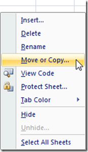 Move or Copy Worksheet Right Click Menu