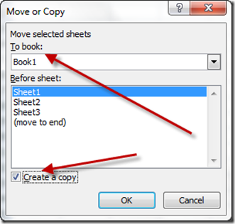 Right Click on Worksheet to Copy