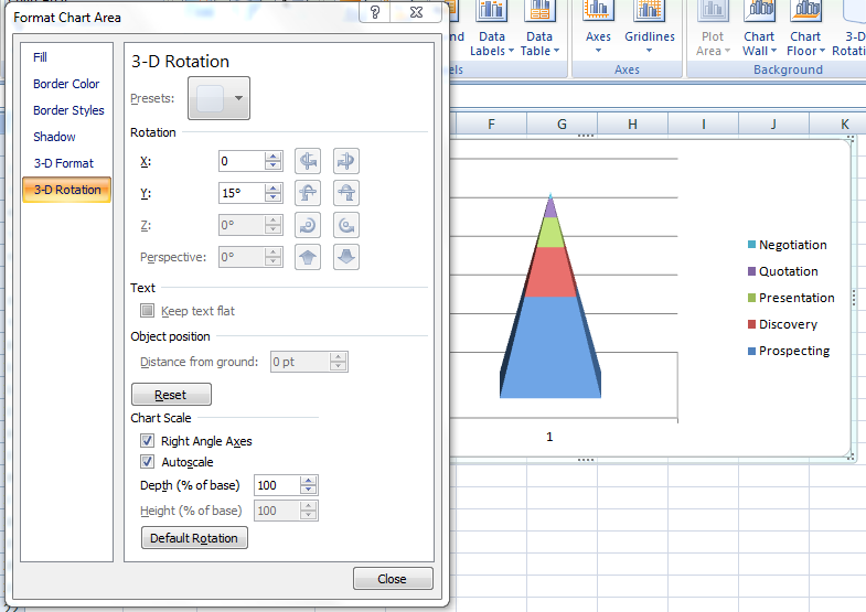 how to make a funnel graph in excel