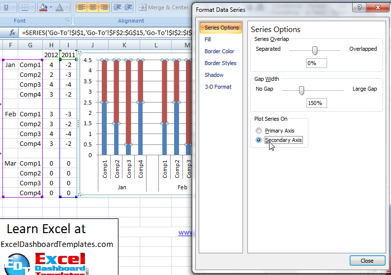 excel create chart template