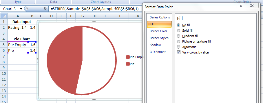 how to change order of slices in pie chart excel