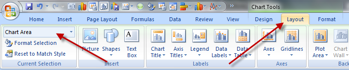 How-to Select Data Series in an Excel Chart when they are Un