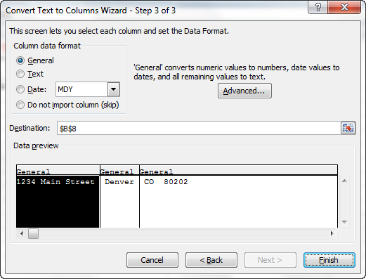 The Best Way to Separate Address Text to Multiple Columns - Excel