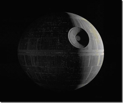 death-star-excel chart and graph