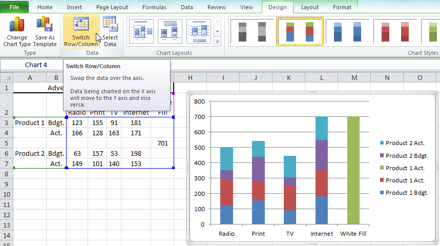 How-to Easily Create a Stacked Clustered Column Chart in