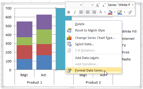 How-to Easily Create a Stacked Clustered Column Chart in Excel