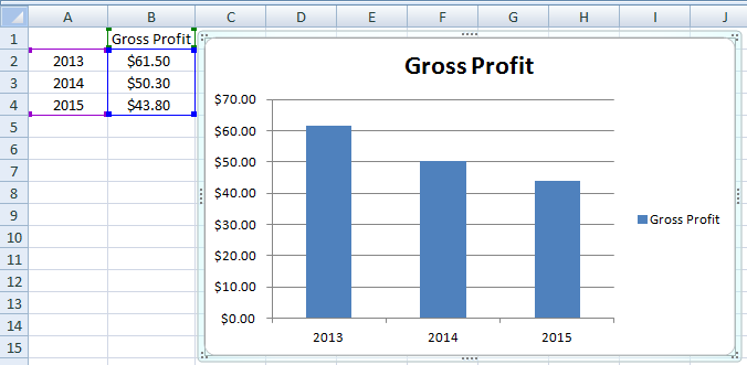 how to put years on the x axis in excel