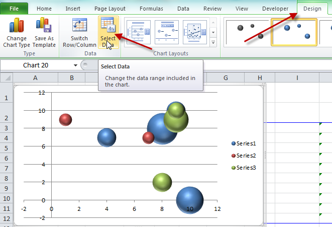 Dynamically Change Excel Bubble Chart Colors - Excel