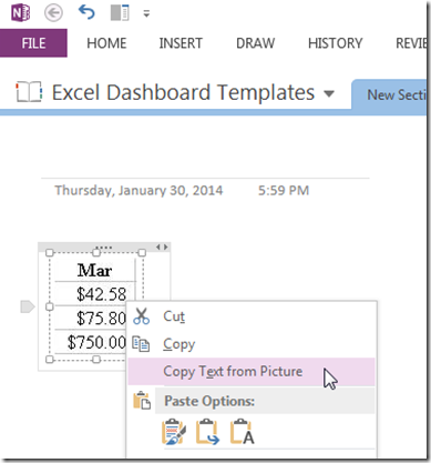 How-to Copy Numbers and Text from Pictures and Paste in an Excel
