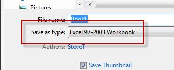 ... excel worksheet only has 65000 rows : Excel Vba Saveas File Format 97
