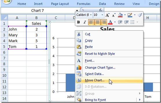 Excel Chart Sheet 5