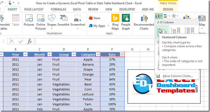 dynamic dashboards in excel 2010 sparklines for excel february 2010how to easily create a. Black Bedroom Furniture Sets. Home Design Ideas