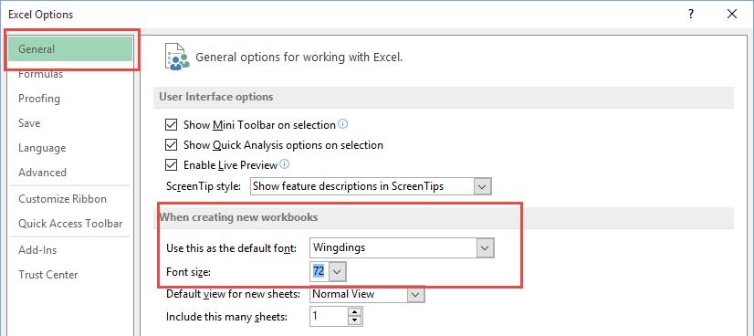 Excel General Option Pranks