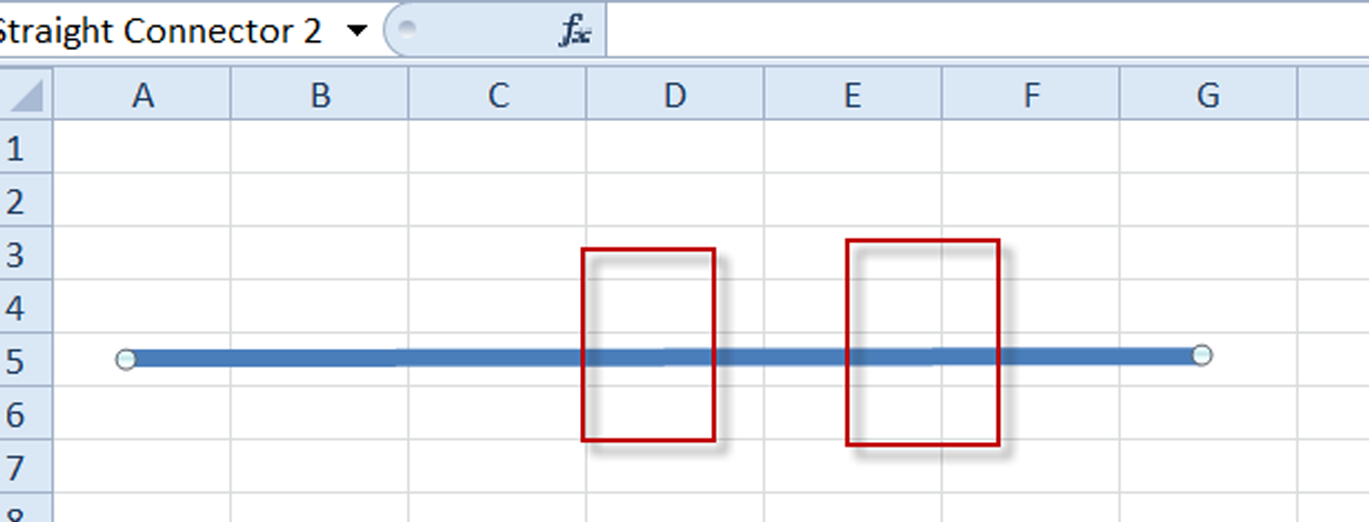 How-to Draw a Straight Line with Excel Shapes - Excel Dashboard