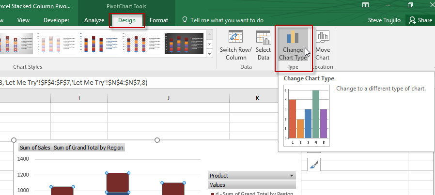 Change Chart Type in Excel