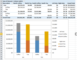 How-to Make an Excel Stacked Column Pivot Chart with a
