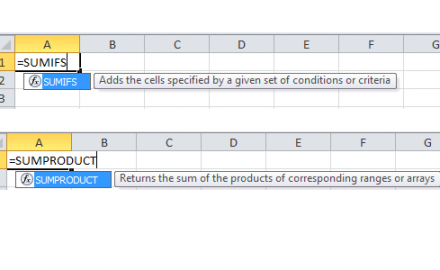 Learn SumProduct and SumIF Excel Functions