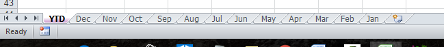 Multiple Excel Tabs December to January