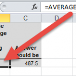AverageIF Across Excel Worksheet Tabs AverageIF Function Result