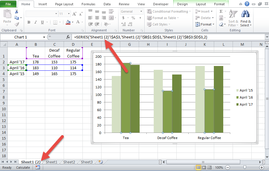 Excel Dashboard Templates How-To Copy an Excel Chart on Same ...