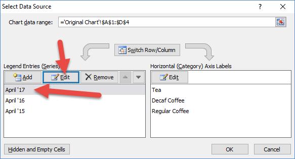 Edit Chart Series via Data range from Select Data Source Dialog Box