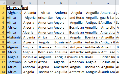 Text to Columns Separated CSV Data