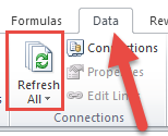 Data Ribbon Refresh All Button