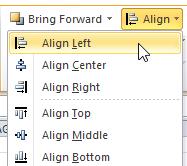 Align Left Menu