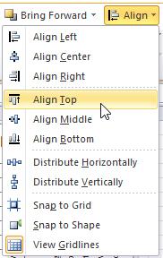 Align Top Menu Selection