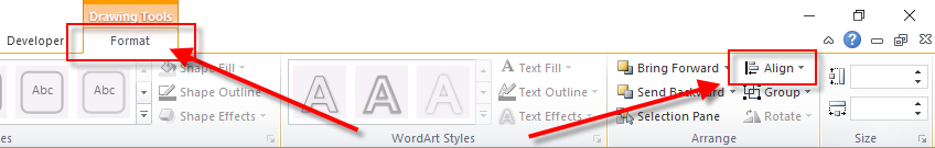 Format Ribbon - Align Button