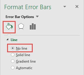 Create Vertical Line Between Columns Horizontal Error Bars Options Dialog Box