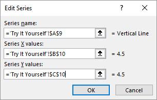 Create Vertical Line Between Columns with Error Bars Updated XY Data Series